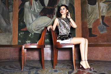 Miroslava Duma la invitada de todas las fiestas y la imagen de todas campañas