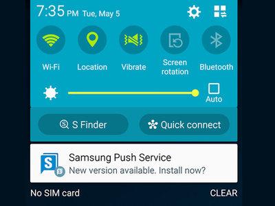 La primera aplicación de Samsung en llegar al club de los mil millones de descargas es... Samsung Push
