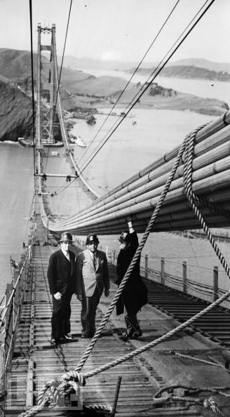 Construcción del Golden Gate, revista LIFE