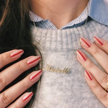 La manicura más sencilla y minimalista de la temporada solo necesita una línea para ser perfecta