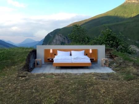 """¿Pasarías la noche en una """"habitación"""" sin paredes por estar entre los Alpes Suizos?"""
