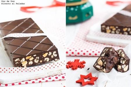 Receta De Turron De Chocolate Crujiente
