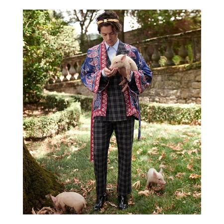 Harry Styles vuelve a ser imagen de Gucci entre cerditos y cabras para su colección Resort