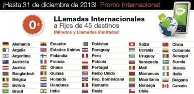 Hits Mobile simplifica sus tarifas y regala minutos internacionales durante 2013