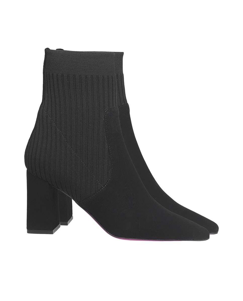 Botines de mujer Úrsula Mascaró de calcetín en negro