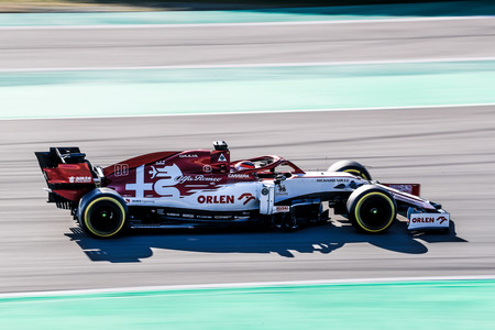 Raikkonen Barcelona F1 2020