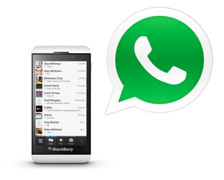 Ya tenemos WhatsApp para BlackBerry 10