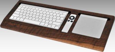Fundas de nogal para el teclado inalámbrico, el Remote y Magic Trackpad de Apple