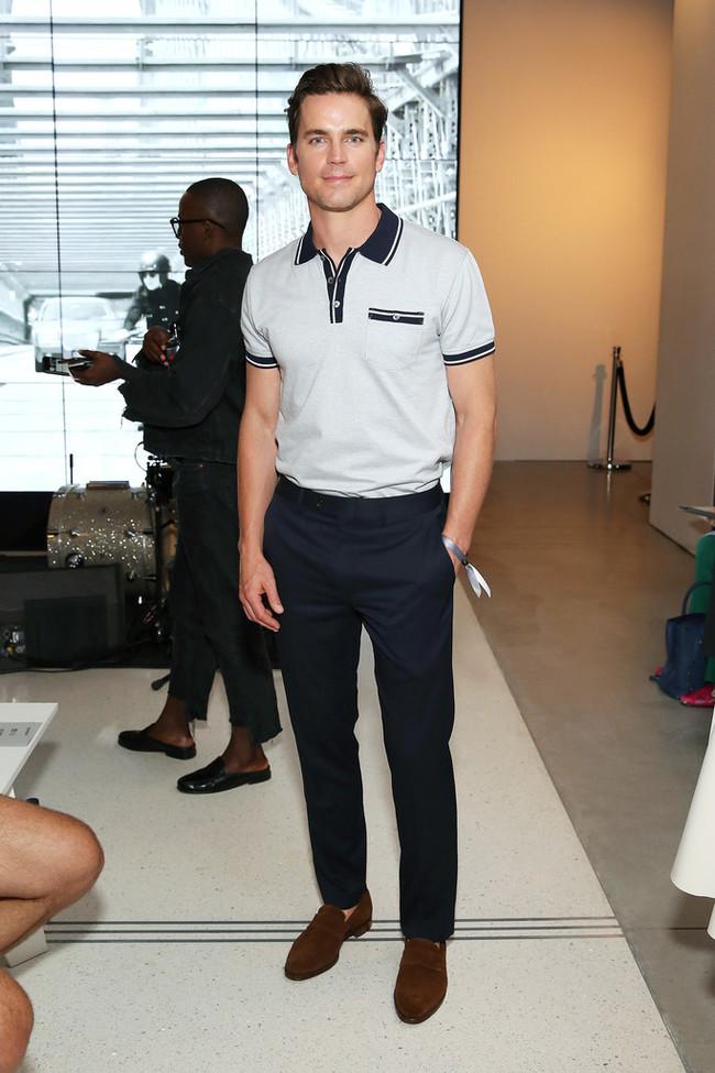 Con Polo Y Mocasines Matt Bomer Domina El Front Row De La Semana De La Moda De Nueva York 2