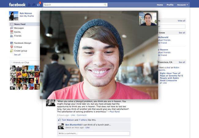 VideoChat en Facebook.