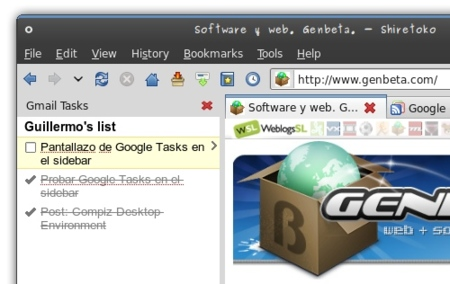 Añade Google Tasks a la barra lateral de Firefox y Opera