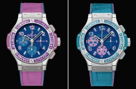 hublot big bang pop art azul y rosa