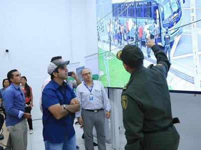 Los buses en Barranquilla estarán vigilados por la Policía y tendrán botones de pánico