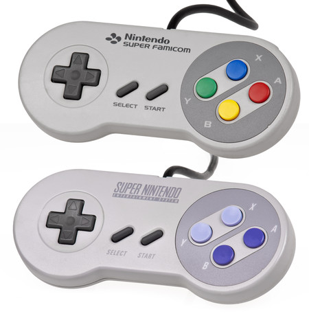 Super Famicom And Super Nes Controllers