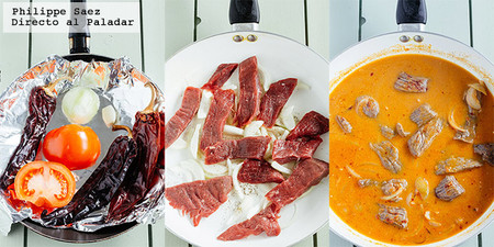 Carne Res Salsa Pasilla Receta