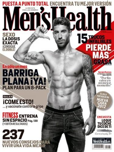 Sergio Ramos, qué manera de sacar músculo en Men's Health