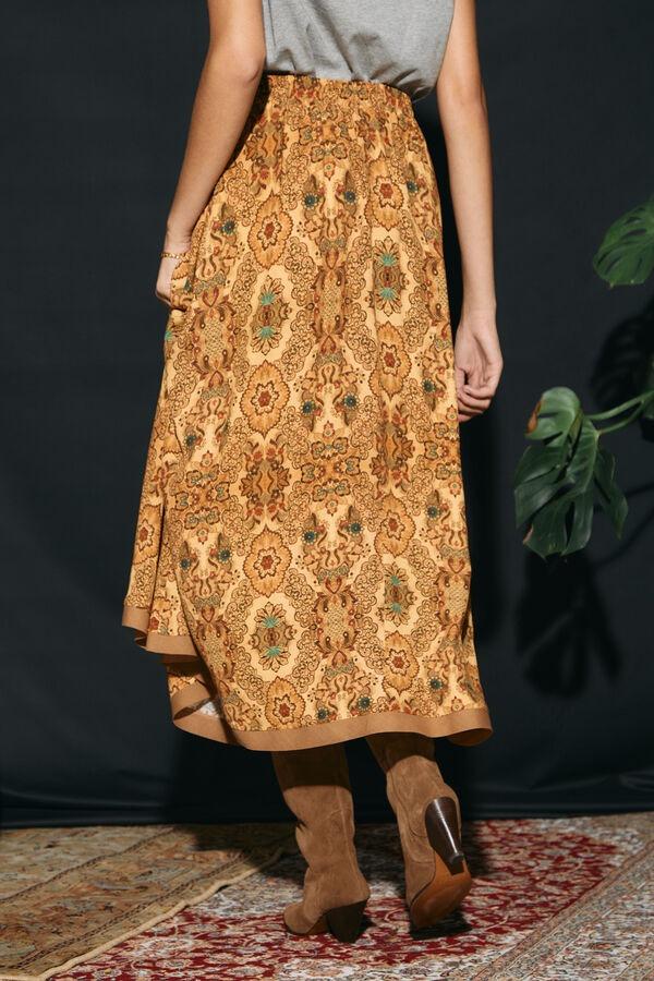 SLOWLOVE Falda capa larga estampada