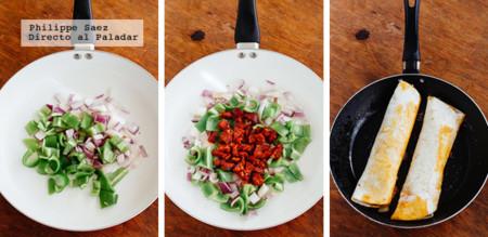 Burrito Chorizo Pimiento Prep