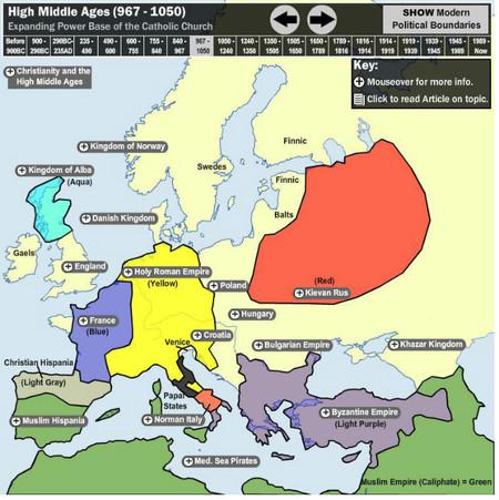 Mapa interactivo europa