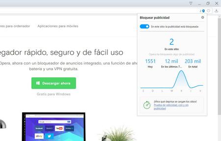 Opera asegura que su bloqueador de publicidad mejorado carga las webs un 44 % más rápido que Chrome 64