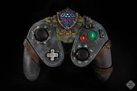 ¿Aficionado a Zelda? Entonces desearás hacerte con este mando de Game Cube para Wii U hecho a mano