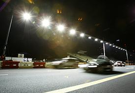 Primeras pruebas del sistema de iluminación en Singapur