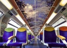 Los trenes públicos en Francia se han convertido en una bella obra de arte en movimiento