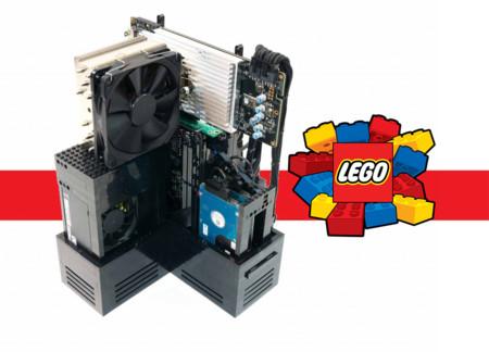 Un ordenador montado con piezas Lego que está  diseñado para jugar: Lego Gaming Computer
