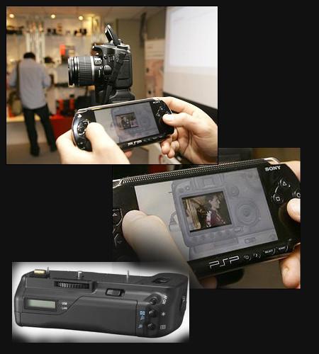 ¡ Puedes hacer fotos con la Canon 40D desde una PSP !