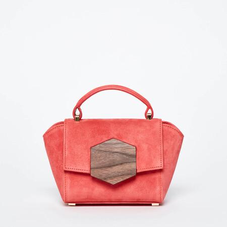 Handbag Hannes Hex Mini Coral Suede Main 01 Bakari