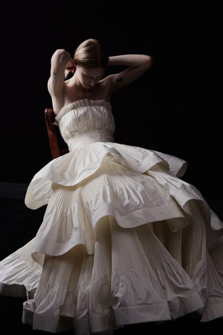 Lanvin vestido novia volantes