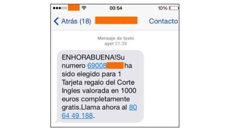 SMS del timo