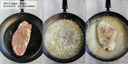 Chuleta Res Salsa Cebolla