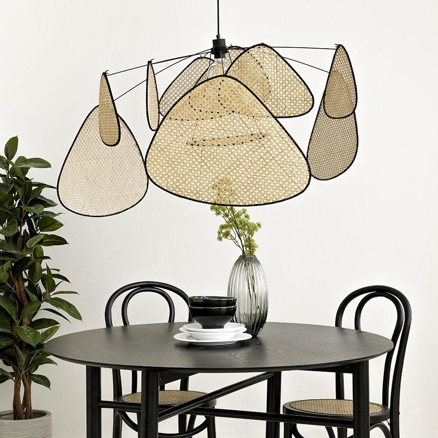 Lámpara de techo de ratán