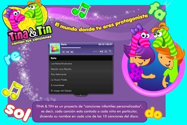 Tina & Tin, canciones personalizadas con el nombre de tu hijo