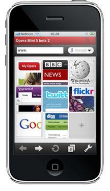 Opera lanzará una versión de su navegador móvil para el iPhone