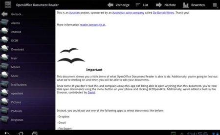 OpenOffice Reader