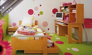 Dormitorio infantil: El color de las paredes