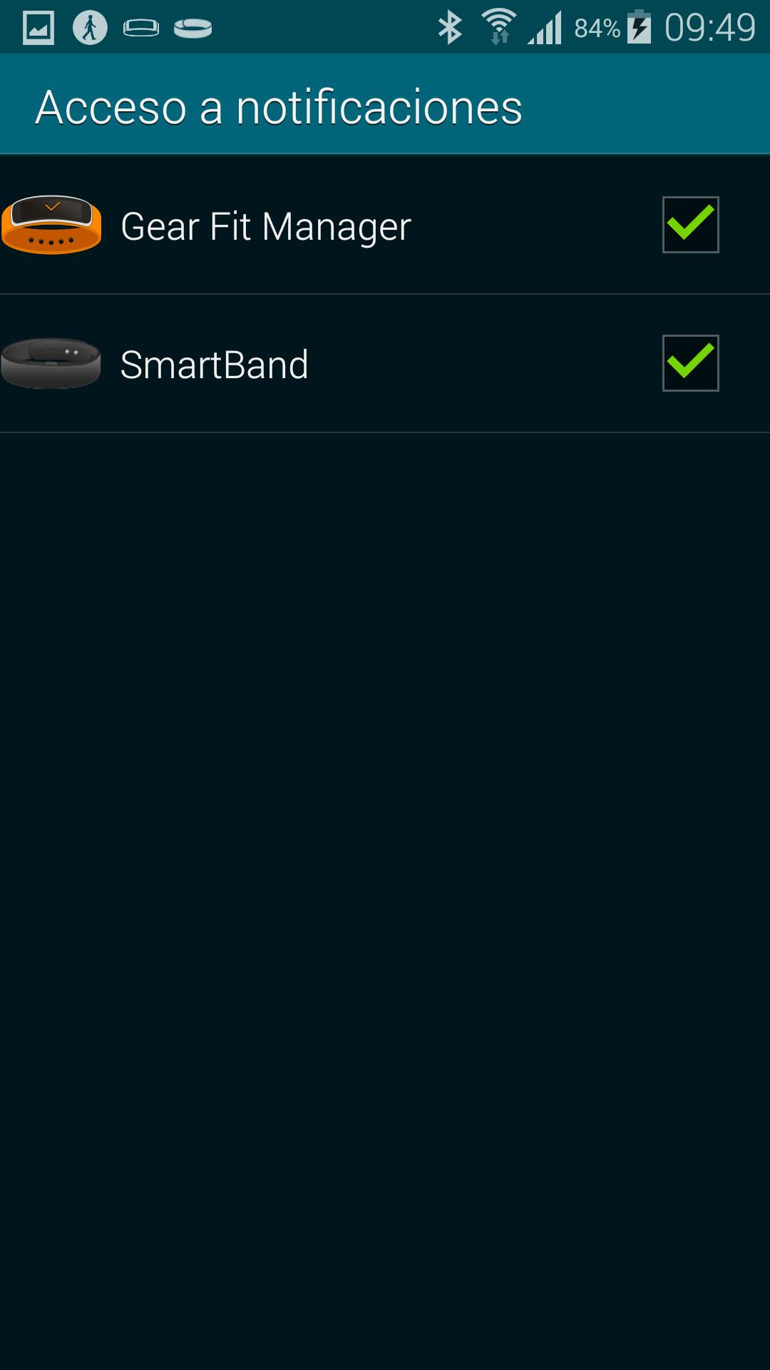 Smartband capturas
