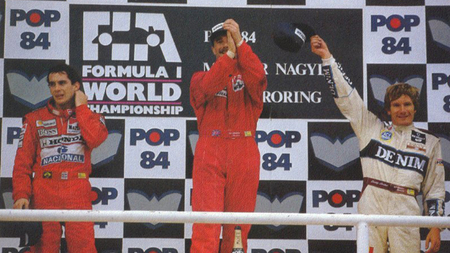Podio Hungaroring 1989