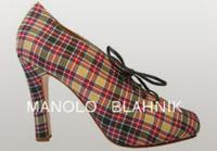 Manolo Blahnik y el tartán en su nuevo zapato