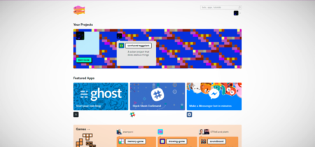 Glitch es una comunidad online donde puedes crear webapps de forma totalmente colaborativa
