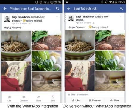 Facebook inicia su integración con WhatsApp
