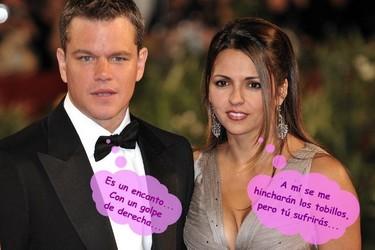 Matt Damon y las molestias de su nuevo embarazo