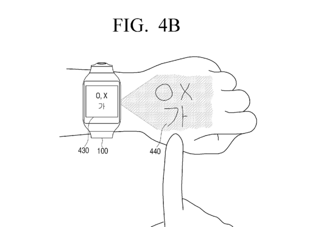 Samsung Patent Numpad Projection Hand 2