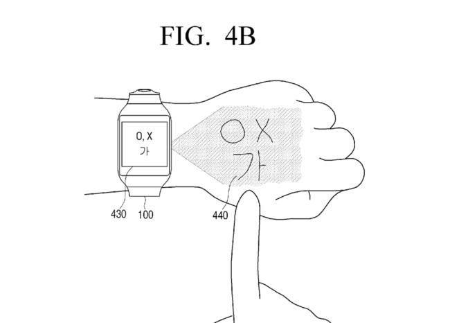 Samsung Patent Numpad Projection Hand 2