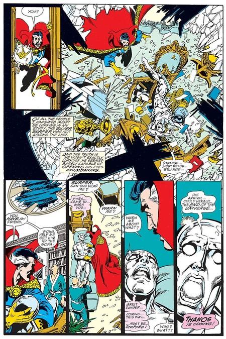 Silver Surfer avisa de la llegada de Thanos
