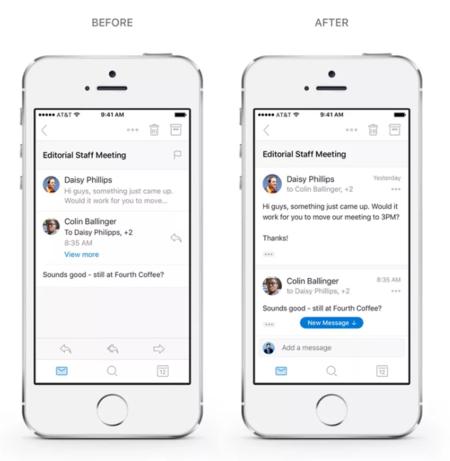 Outlook en iOS se actualiza y simplifica la experiencia de leer y responder a hilos de correos