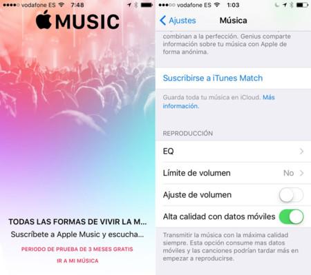 iOS 9 beta 3 Música
