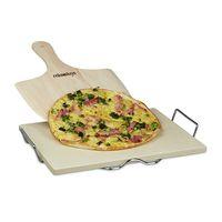 Por 29,86 euros tenemos esta  piedra para pizza Relaxdays de 38 x 30 cm con soporte y pala en Amazon